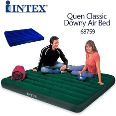 Beli Intex Queen Classic Downy Airbed Green Online