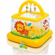 Spesifikasi Intex Soft Side Lil Baby Gym Pagar Main Mainan Trampolin Anak Bayi 48473 Dan Harganya