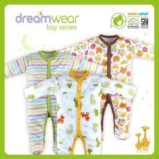 Harga Jelova Angela 3Pc Pack Jumper Sleepsuit Dreamwear 3 6 Months Mixcolours Boy Branded