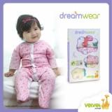 Jual Jelova Angela 3Pc Pack Jumper Sleepsuit Dreamwear 3 6 Months Mixcolours Girls Termurah