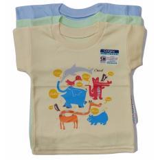 Obral Jelova Angela 3Pcs Kaos Oblong Ridges Baby Bayi Unisex 1 2 Years Sni Standart Mixcolour Murah