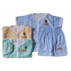 Spesifikasi Jelova Angela 3Sett Setelan Baju Newborn Hokiku Salur Sni Standart 4 Months Boy Terbaru
