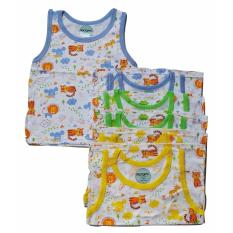 Jelova Baby Angela 6pcs Baju Kutung Baby Bayi Ridges Print Animal  2-3 Years - Mixcolour