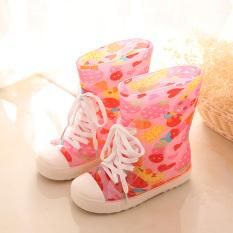 Sepatu Bot Hujan Jepang atau Korea Selatan Baru Sepatu Karet Modis Anak Laki-laki