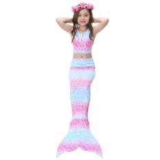 Jingle 2017 KIDS Gadis Memikat Mermaid Tail Bikini Swimwear Swimming Costume Ukuran: 120-Internasional