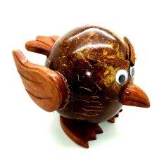 Jogja Craft Celengan Batok Tempurung Kelapa Bentuk Angry Bird - Coklat