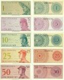 Iklan Uang Kuno Uang Kertas Set Sen 1 5 10 25 50 Sen Lengkap