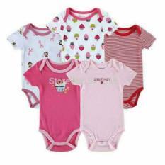jumper pendek 5 in 1 anak cewek - baju bayi perempuan carter carters isi 5 usia 3 6 9 12 bulan