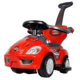 Beli Junior 3 In 1 Deluxe Stroller Walker And Ride On Car With Handle Merah Online Terpercaya