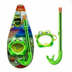 Diskon Kaca Mata Selam Anak Intex Froggy Fun Set Kacamata Renang Anak Branded