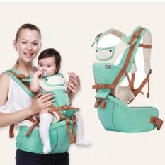 Hipseat Ransel Gendongan Depan Balita Style Kanguru Portable dan Multifungsi Warna Hijau