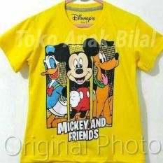 Kaos Anak Mickey Mouse  7-10 Tahun / Kaos Karakter/ Atasan / Baju Anak