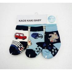 Kaos kaki baby motif size 0-12 bln