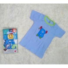 Kaos Lengan Pendek / Tee 5 in 1 Kancing Pundak / Baju Baby Cowok - Umur 24 Bulan