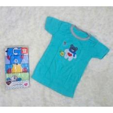 Kaos Lengan Pendek / Tee 5 in 1 Kancing Pundak / Baju Baby Cowok - Umur 36 Bulan