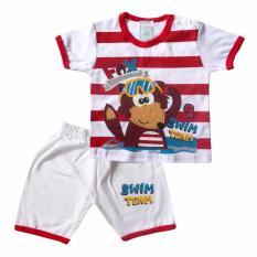 Skabe Baju Anak Bayi Putih Tangan Pendek Stelan Kaos 1495 - KuningIDR30305. Rp 31.255