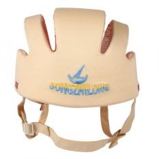 Kapas Bayi Balita Helm Keselamatan Bayi untuk Berjalan Merangkak (Beige)-