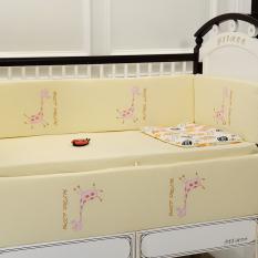 Kapas Bayi Katun Set Sprei Perlengkapan Katil Bayi Tempat Tidur Katil Bayi Sekitar