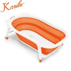 Karibu Folding Bath Bak Mandi Bayi Lipat Portable Pm3310 Orange Asli