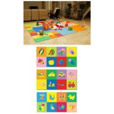 Karpet anak puzzle evamat motif gambar