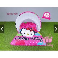 Kasur Bayi Lipat Kelambu Set Motif Hello Kitty | Matras Baby Baru Lahir | Ranjang Anak Murah | Kado