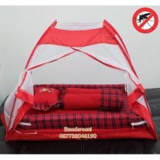 Kasur Bayi Kelambu tenda Kotak-kotak