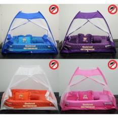 Kasur bayi Kelambu Tenda Polkadot