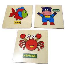 Kayla Org Mainan Edukasi Puzzle Mini Timbul Indonesia