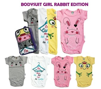 Kazel Bodysuit 4in1 Jumper Bayi Modern Rabbit Edition Girl L