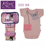 Kazel Bodysuit G*rl 4In1 Newborn Kazel Diskon 30