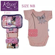 Jual Kazel Bodysuit G*Rl 4In1 Newborn Import