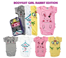 Kazel Bodysuit Girl Rabbit Edition - NB ( Usia 0 s.d 3 bln)