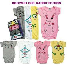Kazel Bodysuit Jumper Bayi Motif Rabbit Edition 4In1 Size S Original