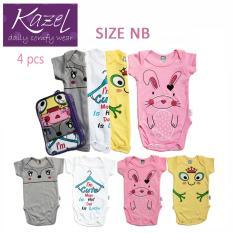Jual Kazel Bodysuit Rabbit Edition Isi 4 Pcs Newborn Dki Jakarta Murah