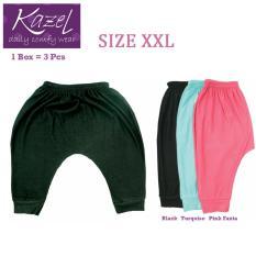 Jual Kazel Jobel Soft Jeans 3 4 Pants Black Edition Isi 3 Pcs Xxl Branded