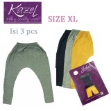 Miliki Segera Kazel Jobel Soft Jeans Long Pants Grey Edition Isi 3 Pcs Xl