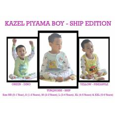 Beli Kazel Piyama Boy Setelan Oblong Celana Panjang 3In1 Ship Edition