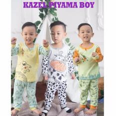 Model Kazel Piyama Boy Setelan Oblong Celana Panjang 3In1 Size M Terbaru