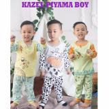 Review Kazel Piyama Boy Setelan Oblong Celana Panjang 3In1 Size S Kazel