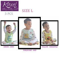 Kazel Piyama Boy Ship Edition - Baju Tidur Setelan Anak Isi 3 Pcs (L)