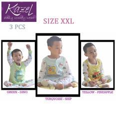Kazel Piyama Boy Ship Edition - Baju Tidur Setelan Anak Isi 3 Pcs (XXL)