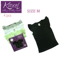 Jual Kazel Ruffle Shirt Black Edition Isi 4 Pcs M Branded