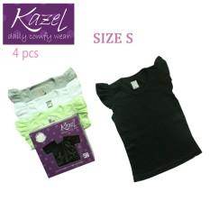 Beli Kazel Ruffle Shirt Black Edition Isi 4 Pcs S Pake Kartu Kredit