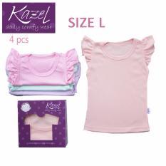 Harga Kazel Ruffle Shirt In Pastel Mood Isi 4 Pcs L Kazel