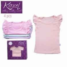 Kazel Ruffle Tee isi 4 pcs - shirt - kaos atasan anak - baju bayi lucu murah