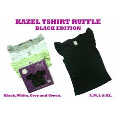 Perbandingan Harga Kazel Ruffle Tee Shirt Black Edition 4In1 Kazel Di Jawa Barat