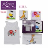 Jual Kazel Singlet Animal Edition Isi 6 Pcs L Lengkap