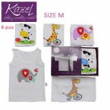 Model Kazel Singlet Animal Edition Isi 6 Pcs M Terbaru