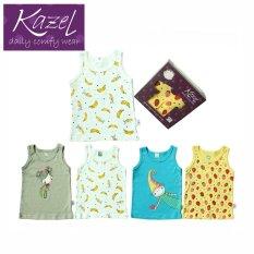 Spesifikasi Kazel Singlet Banana Edition Isi 4 Pcs L Paling Bagus