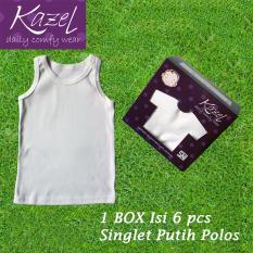 Situs Review Kazel Singlet Polos Putih Isi 6 Pcs L